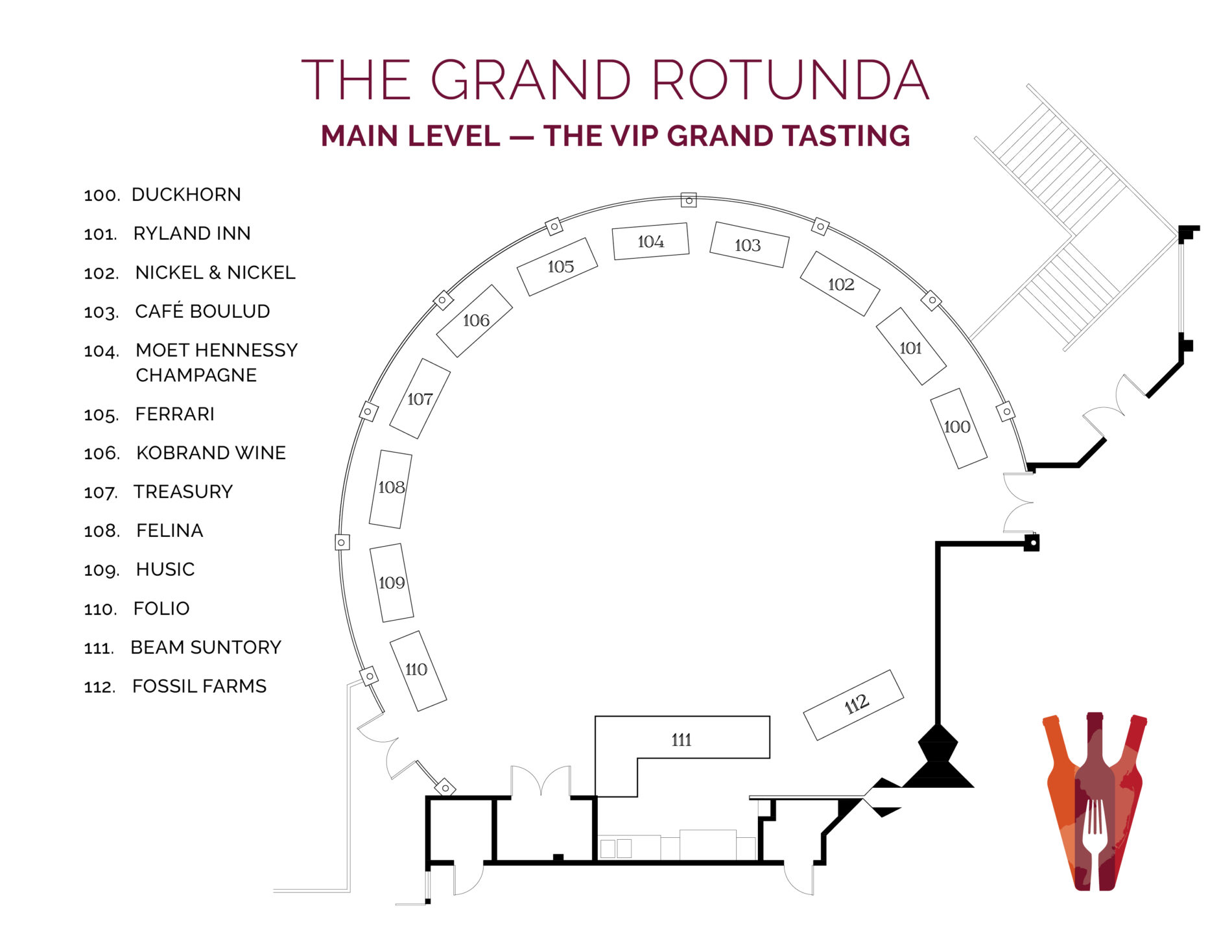NJWFF Floorplan 2019 Rotunda