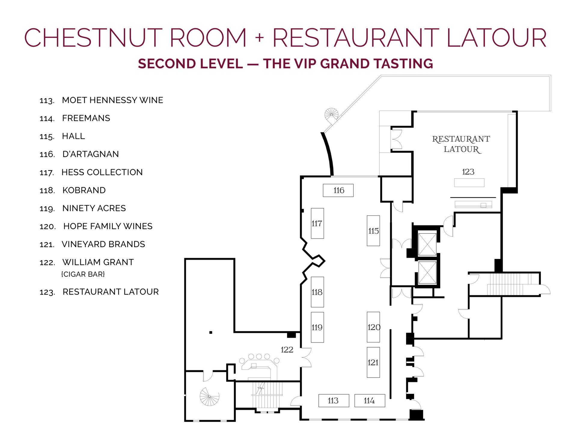 NJWFF Floorplan 2019 Chestnut Room