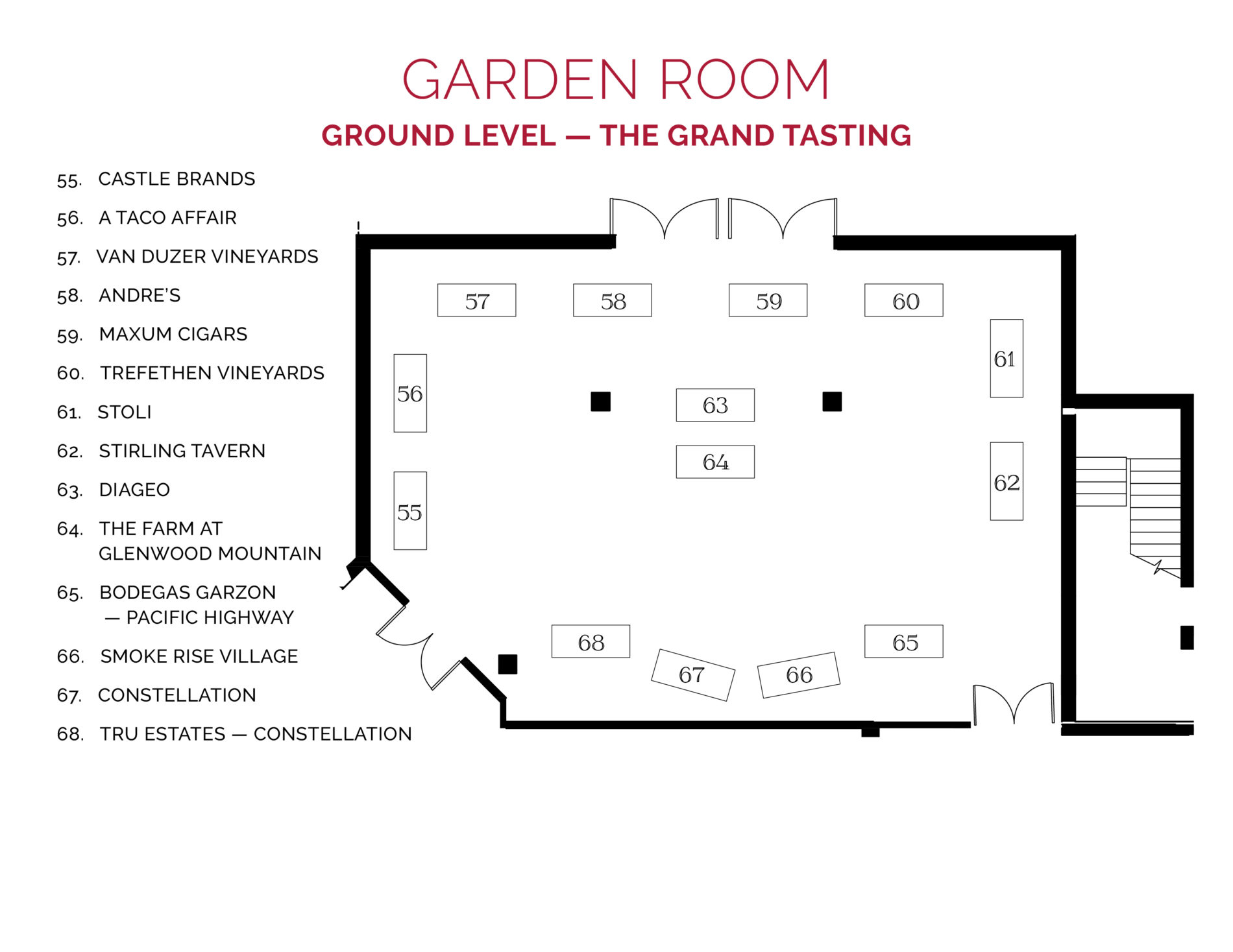NJWFF Floorplan 2019 Garden Room